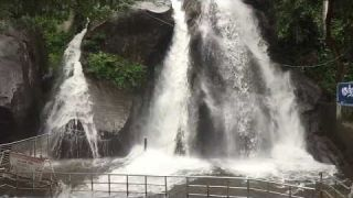 Kutralam Five Falls Flood (08.08.2019) in Slow Motion