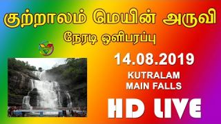 Kutralam Main Falls Live (14.08.2019) | Courtallam | குற்றாலம் மெயின் அருவி | Five Falls